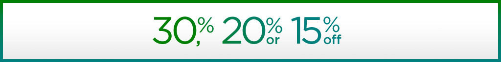 take an extra 30%, 20%, or 15% off