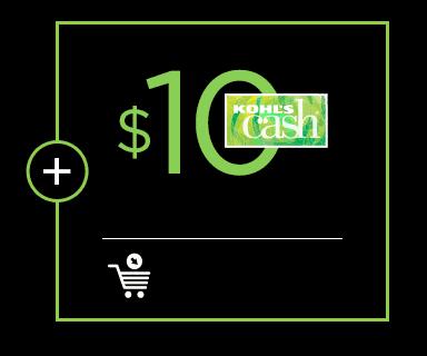 $10 kohls cash.