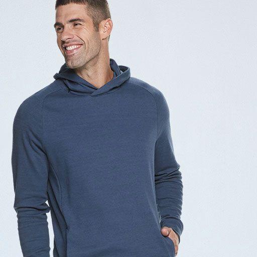 smiling man in hoodie