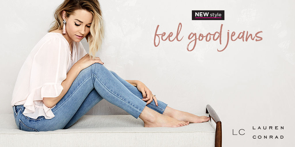 New style. Feel good jeans.
