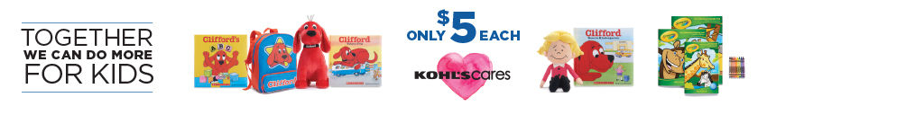 Every purchase helps kids in your community. $5 Each. Kohl's Cares.