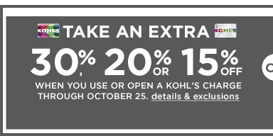 3ce96ce7 Kohl's is offering 30% off and FREE shipping for cardholders! Just use  codes PUMPKIN30 for 30% and FREE4MVC for FREE shipping! Codes are valid  10/15/15 ...