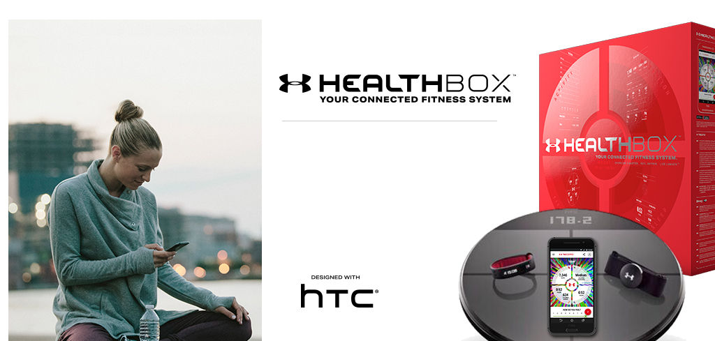 Introducing Healthbox, Your connected fitness system. Designed with HTC®