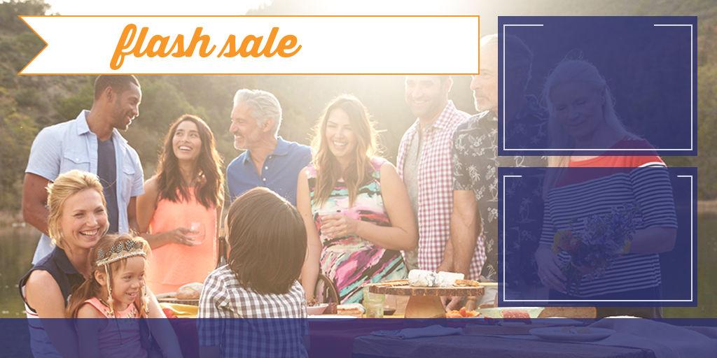 Flash sale.