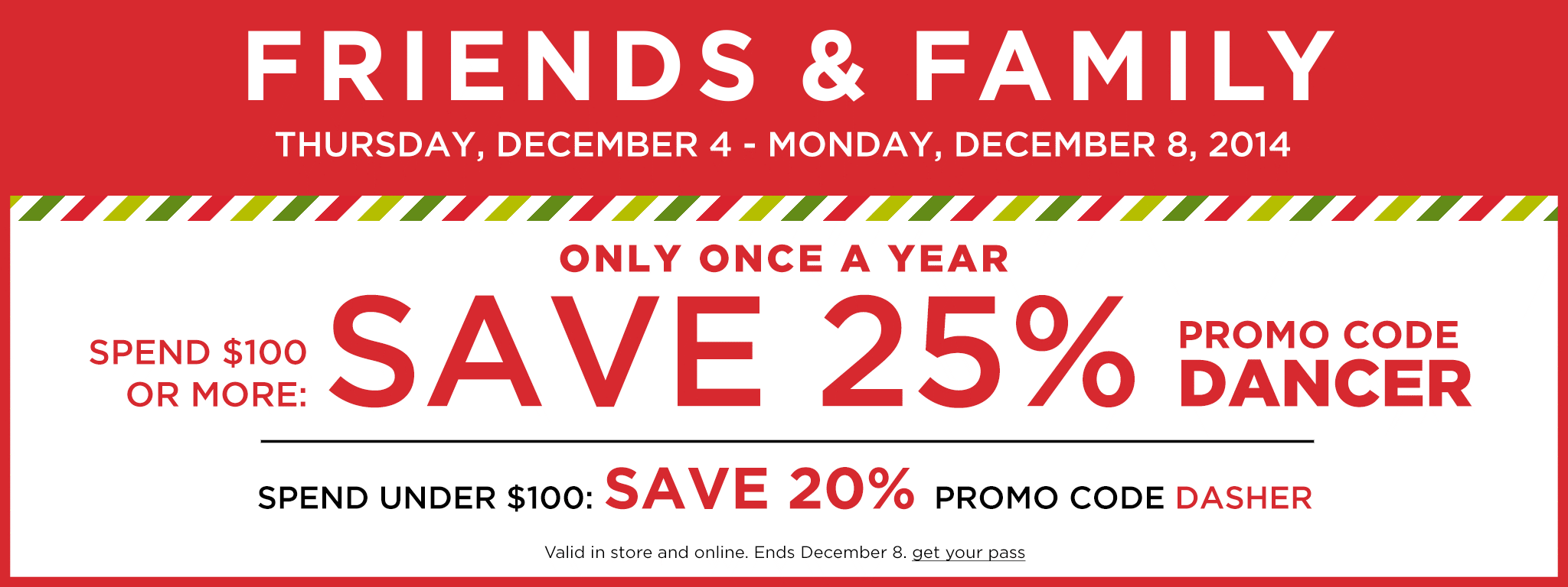 Kohls friends and family sale 25% off coupon code