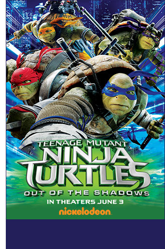 Teenage Mutant Ninja Turtles. Out of the Shadows. In theaters June 3. Nickelodeon.