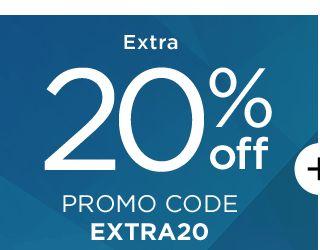 Extra 20% Off. Promo Code EXTRA20.