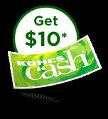 Get ten dollars in kohls cash