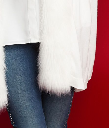 jlo faux-fur jacket