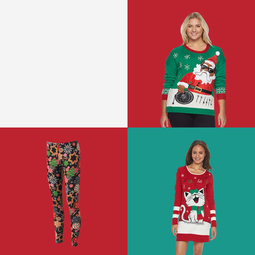 Juniors Ugly Christmas Sweaters