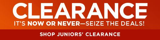 juniors clearance items