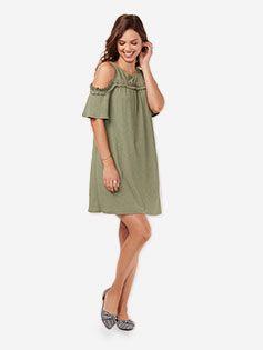 Deep Green Halter Dress
