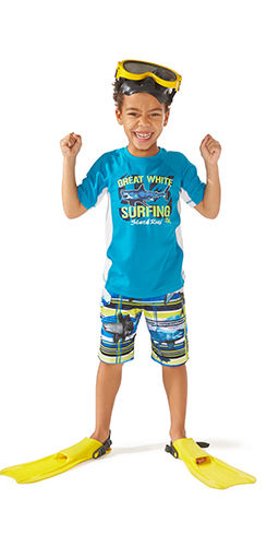 swimsuits and swim trunks for boys