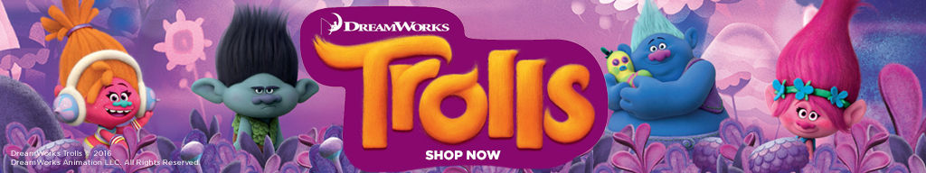 shop Trolls clothes, accessories and toys for kids