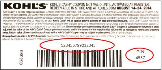 Kohl's Cash Coupon