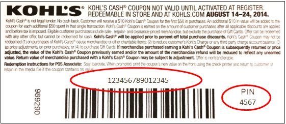 Kohl's Cash Coupon