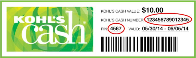 Kohl's Cash Email