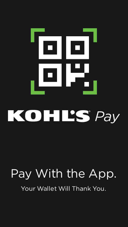 Kohl's Pay QR Code Screen