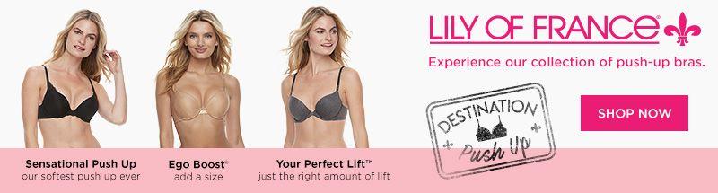 63c2f27f169a0 Womens Lily of France Bras - Underwear