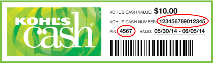 Kohl's Cash Email