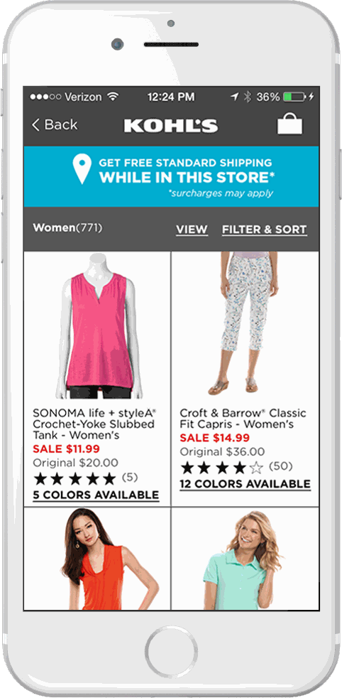 Kohls App For IPhone IPad Android Kohls - Free invoice app for ipad best online women's clothing stores