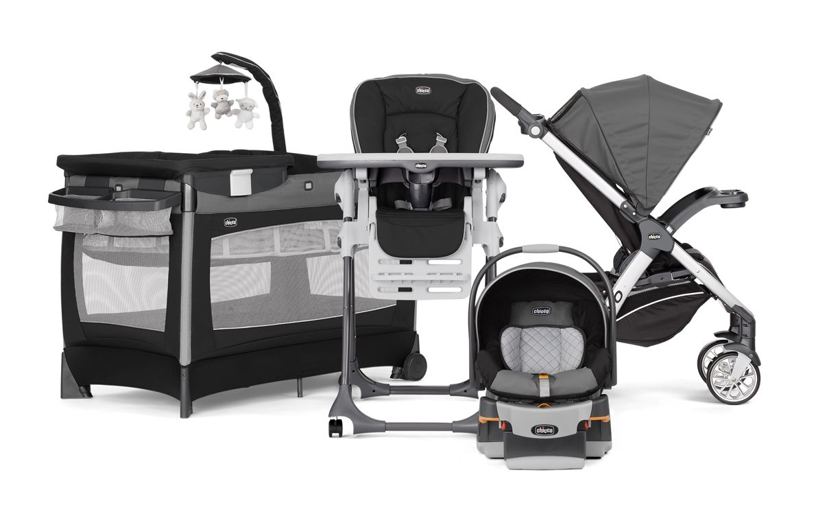 stroller, carseat, crib, highchair