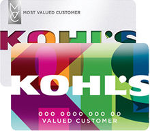 Kohl's cards stacked on top of one another