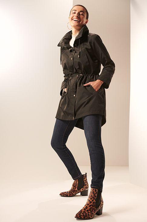 6 inch black zip up heels