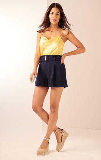 navy short skirt