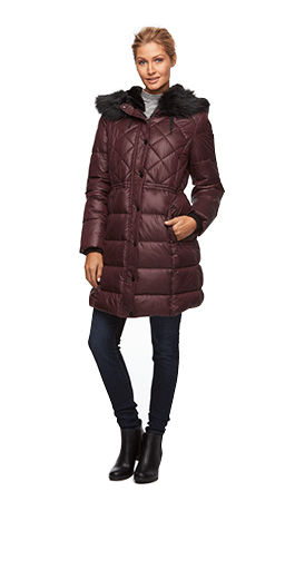 womens puffer jackets and coats