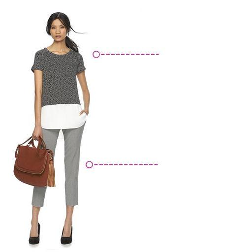 Petites Dress Shirts and Petite Career Pants