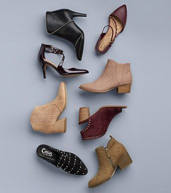 an assortment of shoes