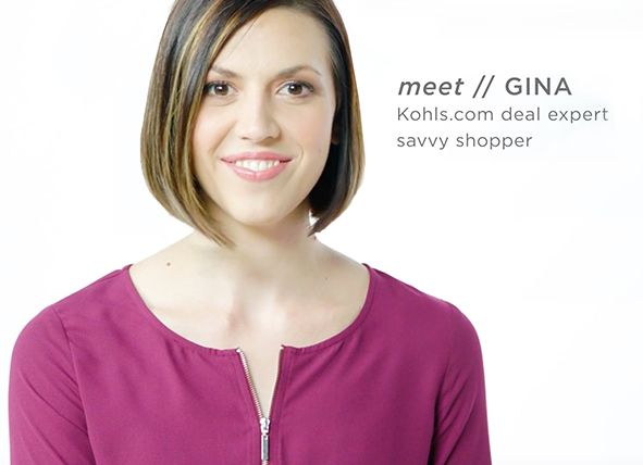 meet // GINA: Kohls.com deal expert savvy shopper