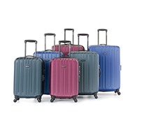 An array of luggage with a lighter design.