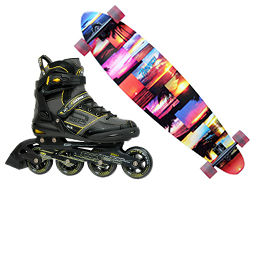 skates and skateboards