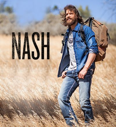 Model wearing Silver Nash Jeans