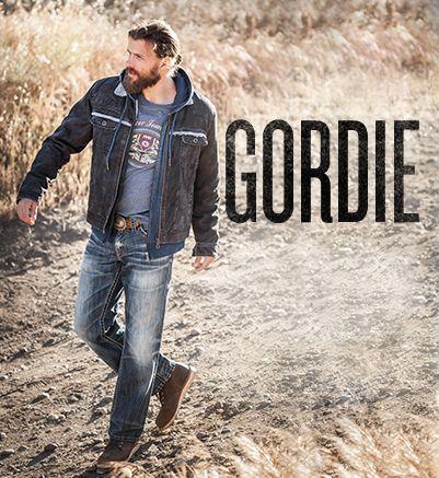 Model wearing Silver Gordie Jeans