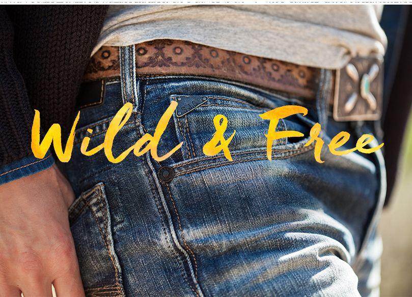 Silver model wearing denim jeans