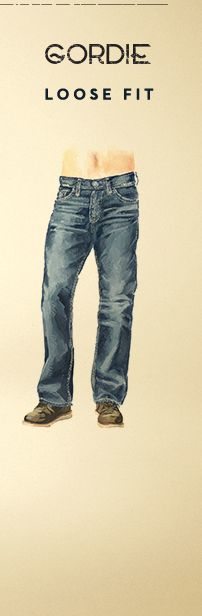 Illustration of Silver Gordie Loose Fit Jeans