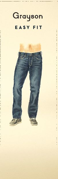 Illustration of Silver Grayson Easy Fit Jeans