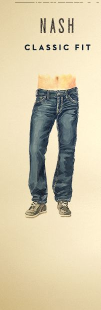 Illustration of Silver Nash Classic Fit Jeans