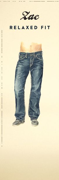 Illustration of Silver Zac Relaxed Fit Jeans