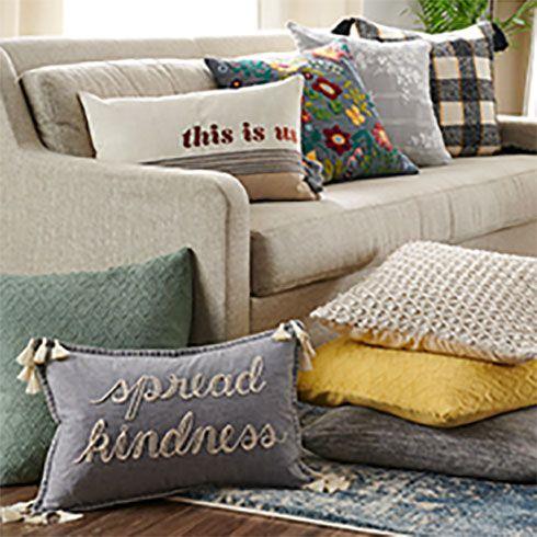Throw Pillows: Decorative Pillows & Pillow Covers to Freshen Up