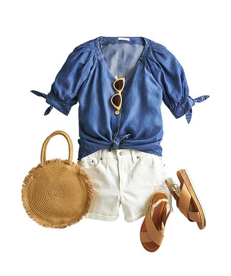 play with chambray look