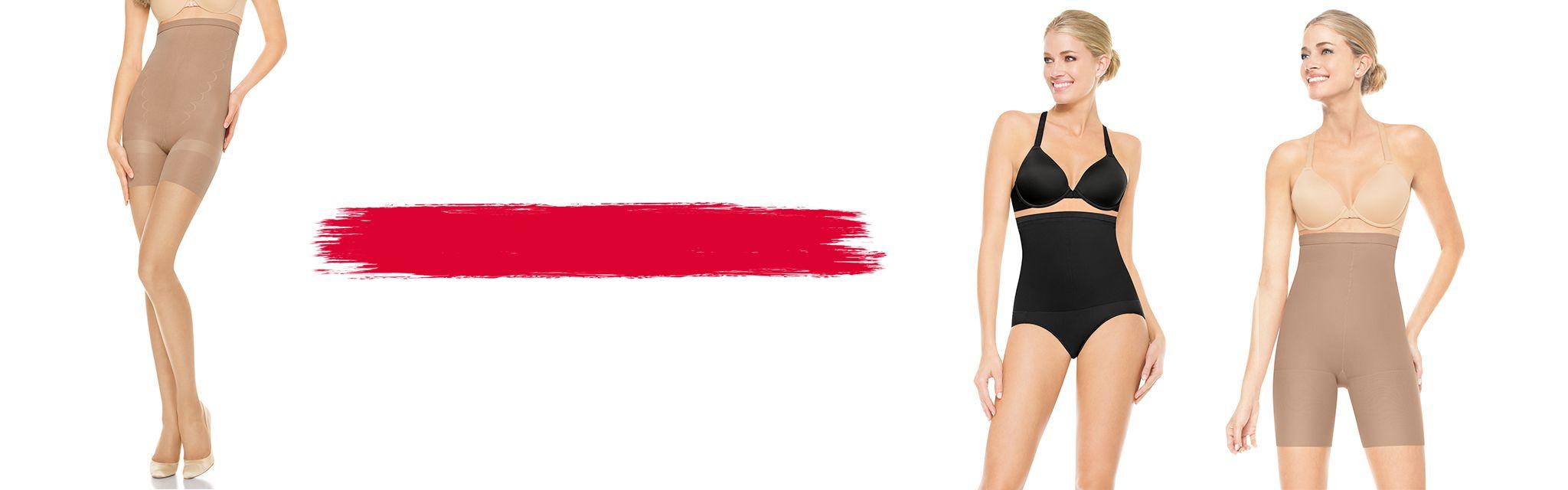 3 Spanx Models Wearing Shaping Hosiery & Sheers