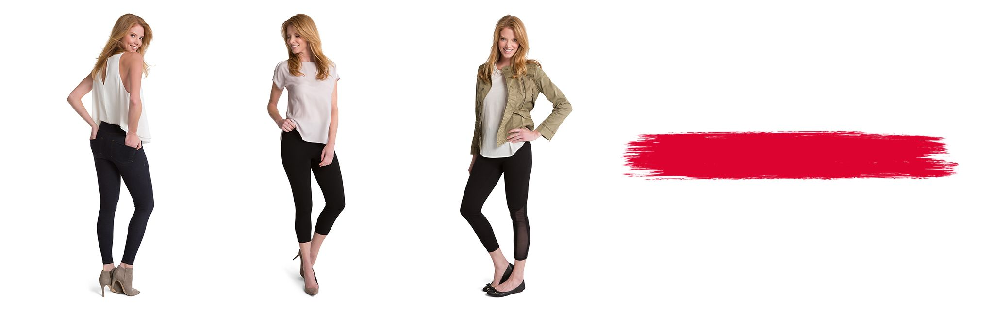3 Spanx Models Wearing Shaping Leggings