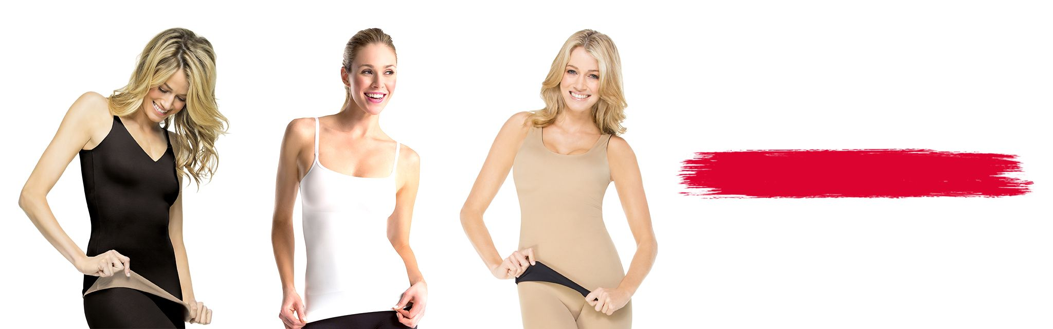 3 Spanx Models Wearing Shaping Tops