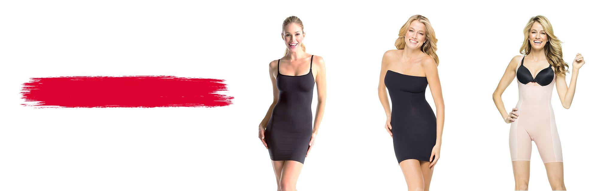 3 Spanx Models Wearing Slips & Bodysuits