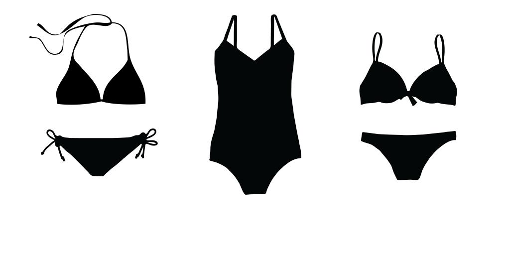 womens little black swim suits