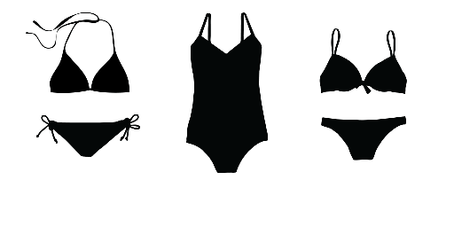 womens little black swim suits